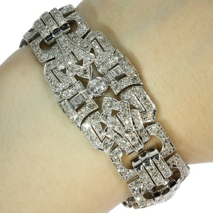 French platinum Art Deco bracelet